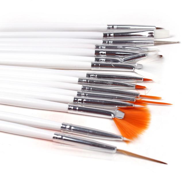 Nail art supplies nail art tools colored drawing pen white washing brush crystal pen light therapy pen 15 set nail art pen