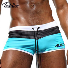 Taddlee Brand Sexy Mens Swimwear Swimsuits Men Swimming Trunks Shorts Beach Sea Surf Wear Man Swim Boxer Trunks Gay Penis Pouch