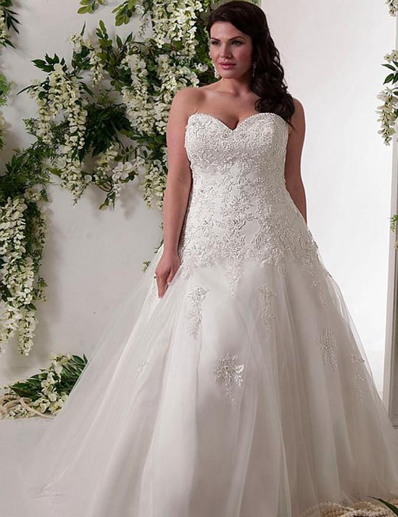 Popular plus size corset wedding dresses buy cheap plus for Plus size wedding dresses on sale