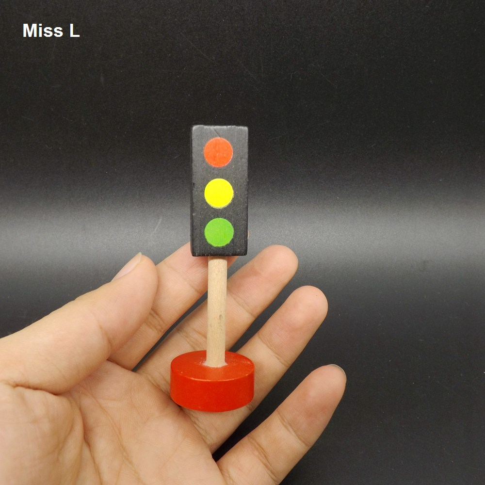 Traffic Sign Light Blocks Security Cognitive Games Street Children Wooden Educational Toys(China (Mainland))