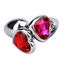 2015 NEW heart shape plug anal metal 75mm*28*33 erotic anal Butt anal Plug jewelry adult Sex Toys For Woman men Sex Products