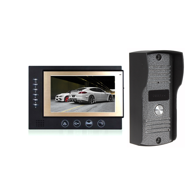 """by DHL or EMS 20 pieces Luxury 7"""" Color LCD Monitor Video Door Phone Record DoorPhone Intercom System DoorBell IR Camera(China (Mainland))"""