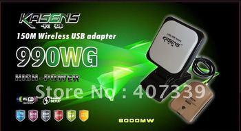 Ralink  3070 chipset 60dBi KASENS KS-990WG WIRELESS USB Adapter 6000MW With Antenna BT10 Driver