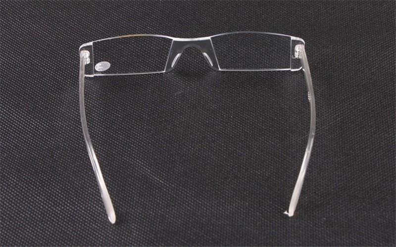 Plastic Clear Rimless Eyeglasses Presbyopia White Reading ...