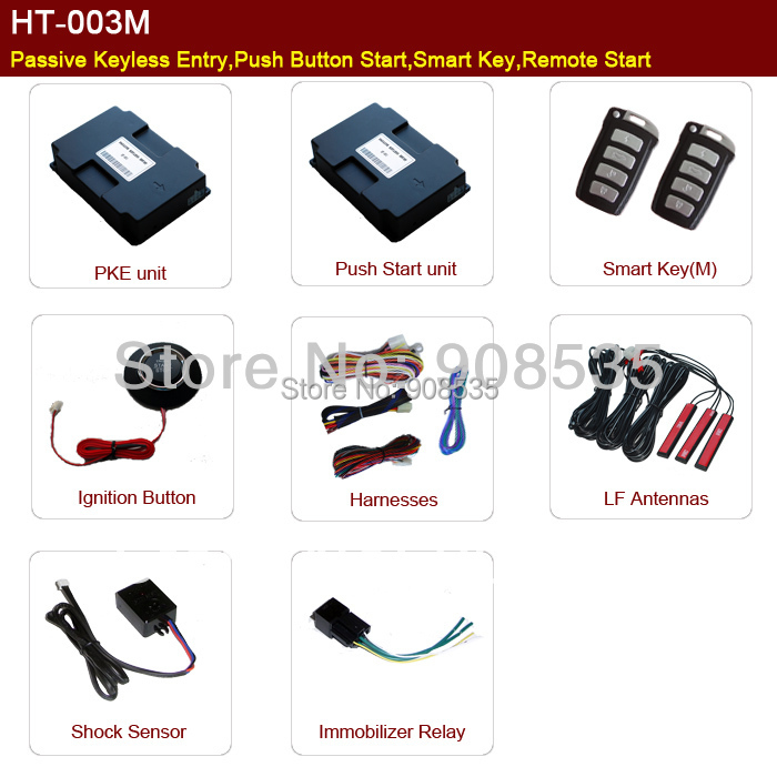 What are some push button keyless start systems?