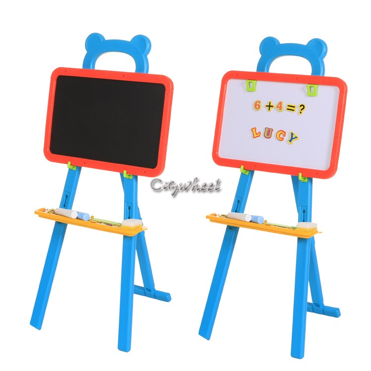 3 In 1 Kids Erasable Magnetic Drawing Board Easel For Kids