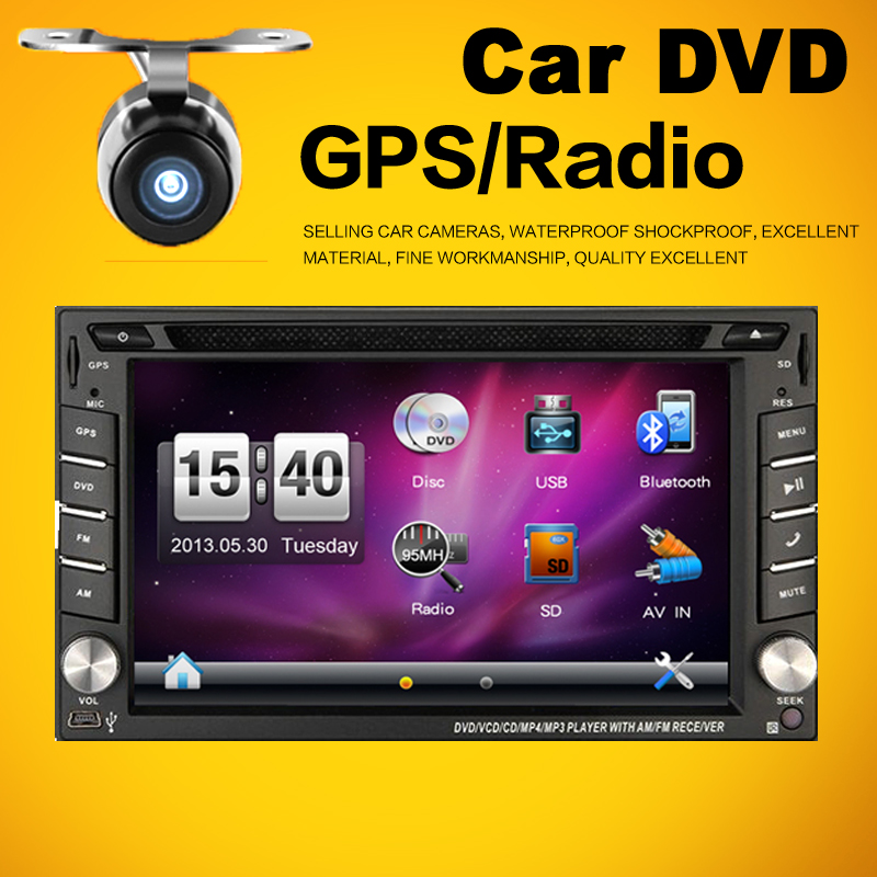 IN-DASH 6.2 Inch Double 2 Din Car DVD Autoradio With GPS Navigation Bluetooth Free MAP For Universal Car Console(China (Mainland))