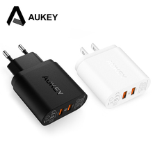 Buy AUKEY 2 Port Qualcomm Quick Charge 2.0 36W Fast Smart USB Wall/ Travel Charger Samsung Sony HTC Xiaomi LG g5 iPhone 6s 7 etc for $13.26 in AliExpress store