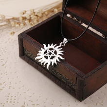 New 2015 Hot Selling Supernatural Dean necklace Men s Sun Star Fashion Pendant Necklace Movie Jewelry
