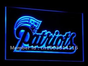 b071-b New England Patriots Soccer LED Neon Light Sign