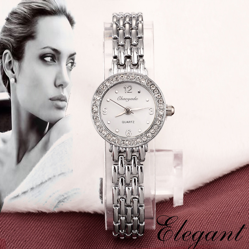 New 2016 Fashion Casual Clock Silver Bracelet Watch Women Rhinestone Watches Women s elegant Quartz Wrist