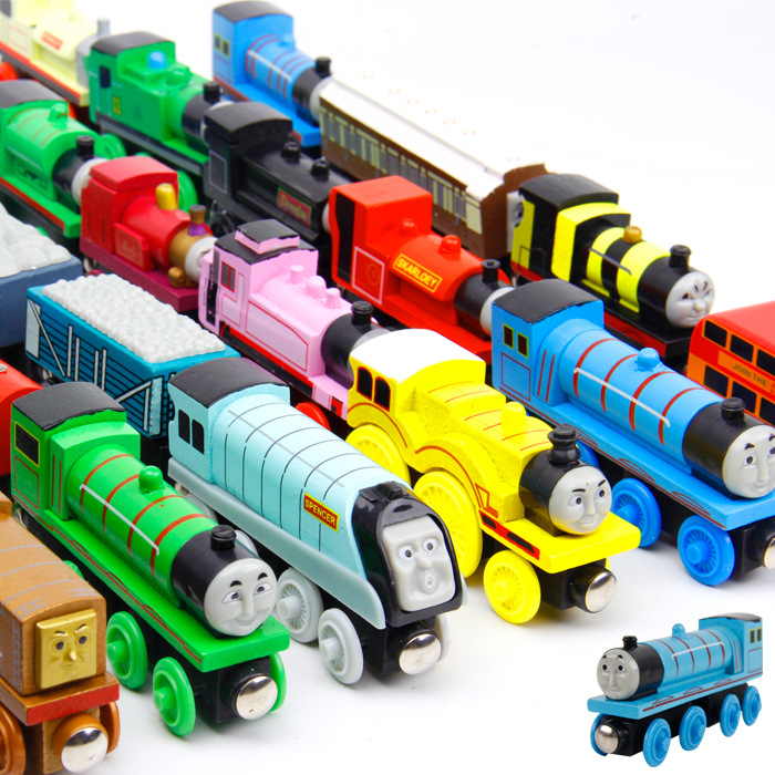 6PCS/LOT New Thomas and Friends Anime Wooden Railway Trains Toy Model Great Kids Toys for Children Christmas Gifts(China (Mainland))