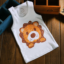Lovely cartoon baby cotton T-Shirt boys girls short t shirt kids Tees infant vest 80 90 100cm Rabbit/Lion/elephant free shipping