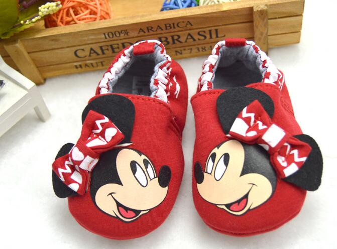 colourful cartoonm mouse knitting cloth soft sole toddler shoes baby shoes 11-13cm for baby infant kids child first walke(China (Mainland))