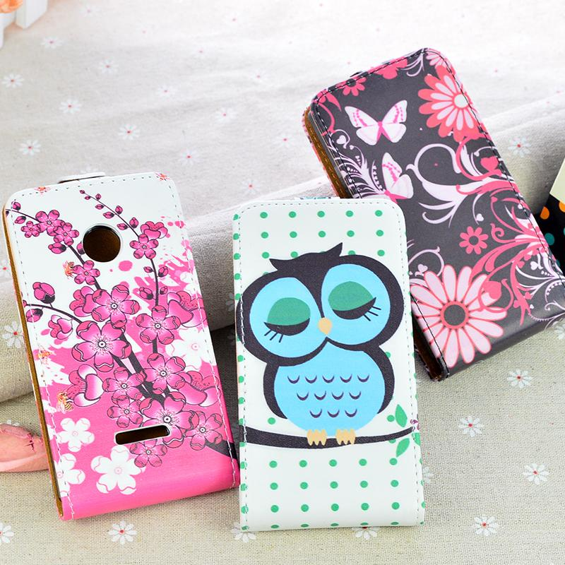 Printing cute pattern Leather Case For Microsoft Nokia Lumia 532 flip cover phone bag 5 Colors(China (Mainland))