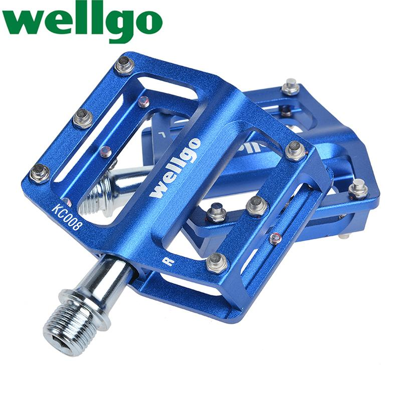 New WELLGO Aluminum Extruted bike cycling Pedals for Road Bike MTB BMX DH Platform pedales bmx cycle pedal ultralight 7 Colors(China (Mainland))