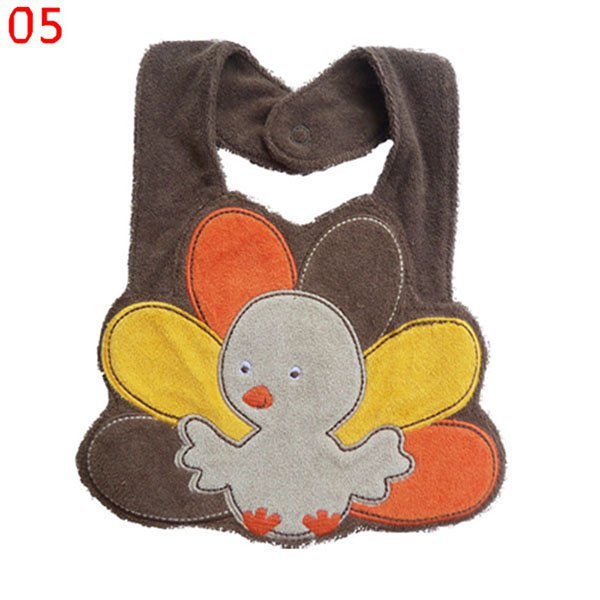 Wholesale Kids Girl Boy Baby Bib Animals Cotton Saliva Towel Waterproof Infant Lunch Bibs Free shipping & Drop shipping