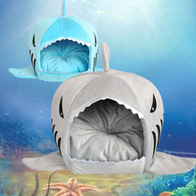 Pet Products Warm Soft Dog House Pet Sleeping Bag Shark Dog Kennel Cat Bed Cat House(China (Mainland))