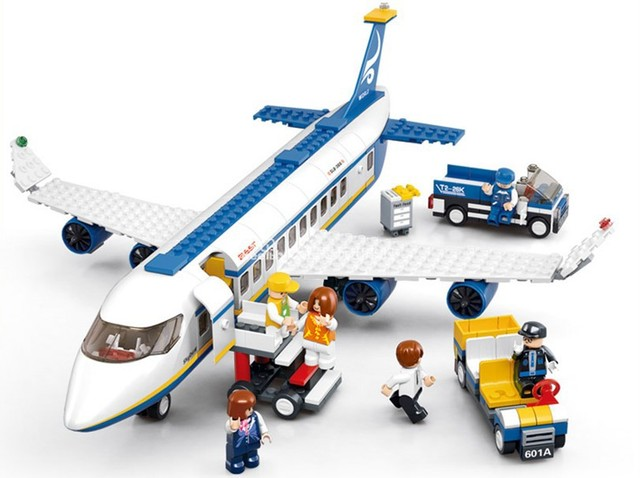 Passenger Plane Building Block Toy Kids Educational Plastic Bricks Set of 463 pieces