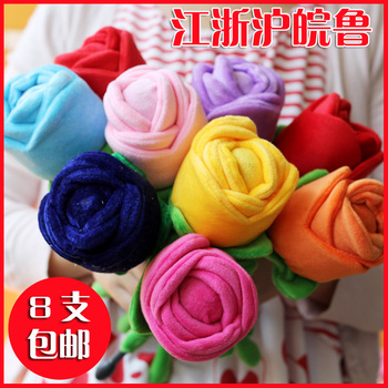 Plush toy rose massage stick knock back stick cartoon chuibei stick massage hammer birthday day gift