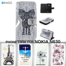 Painted Pattern PU Leather Lfor Nokia Lumia 630 Case For Nokia Lumia 630 635 mobile Phone Cover Case with holder Wallet