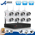2TB HDD 8CH Wireless NVR CCTV System P2P 720P IP Camera WIFI HD H 264 Outdoor