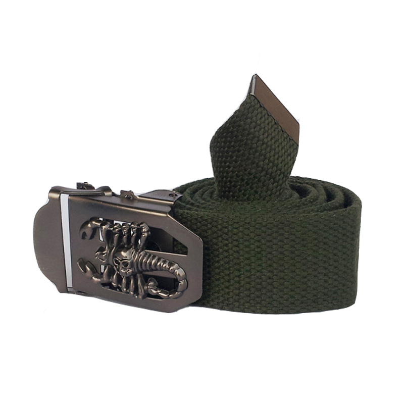 Canvas belt men 120cm strap men's outdoor casual belts military belts Metal buckle(China (Mainland))