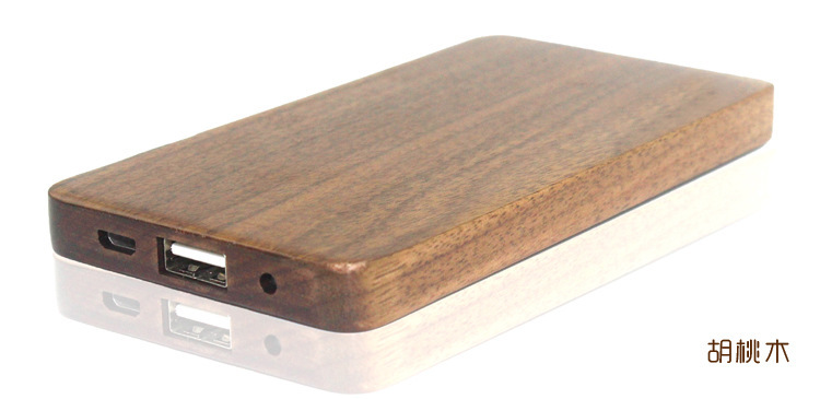 Wooden power Bank portable charging treasure 10000 mA power Bank for intelligent machines Andrews Apple phone