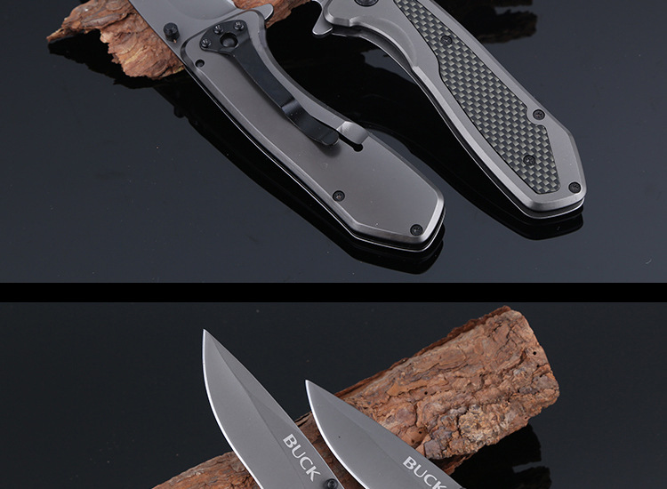 Buy BUCK X53 Self-defense Folding Black Blade Knife Handle Pocket Outdoor Camping Knives Multi-tools Tactical Survival Knife T cheap
