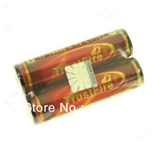 2pcs/lot Trustfire 18650 Golden Protected Battery 3.7V 3000mAh Flashlight Torch Lithium Rechargeable Battery Free Shipping