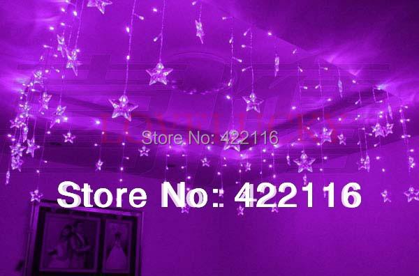 LED STRING Strip Festival Holiday Curtain LIGHT for WEDDING,Decoration 3.5m 100SMD 16 Stars 110V/220V EU/US/UK/AU Plug,(China (Mainland))