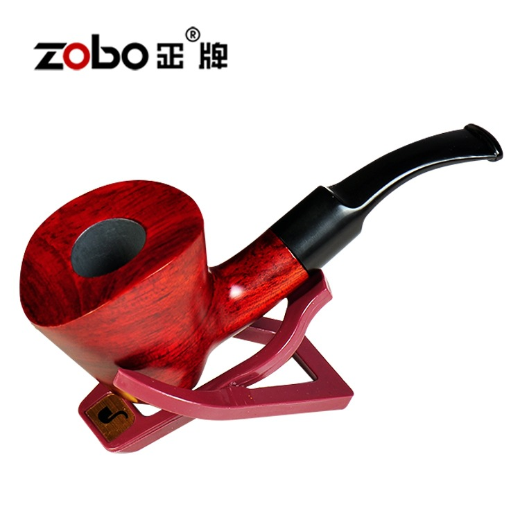 High quality red sandalwood Ben Type Smoking Pipes ZOBO wood pipe ZB 546 wooden tobacco smoking