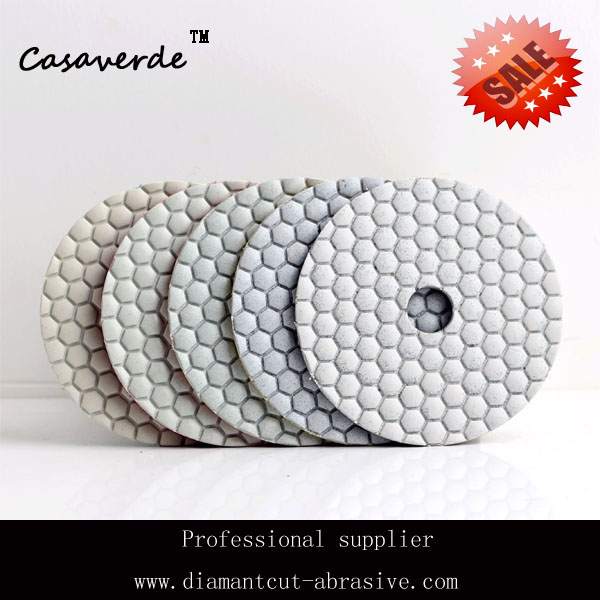 DC-HW5PP02 flexible diamond 5 step dry polishing pads for dry polishing granite and marble(China (Mainland))
