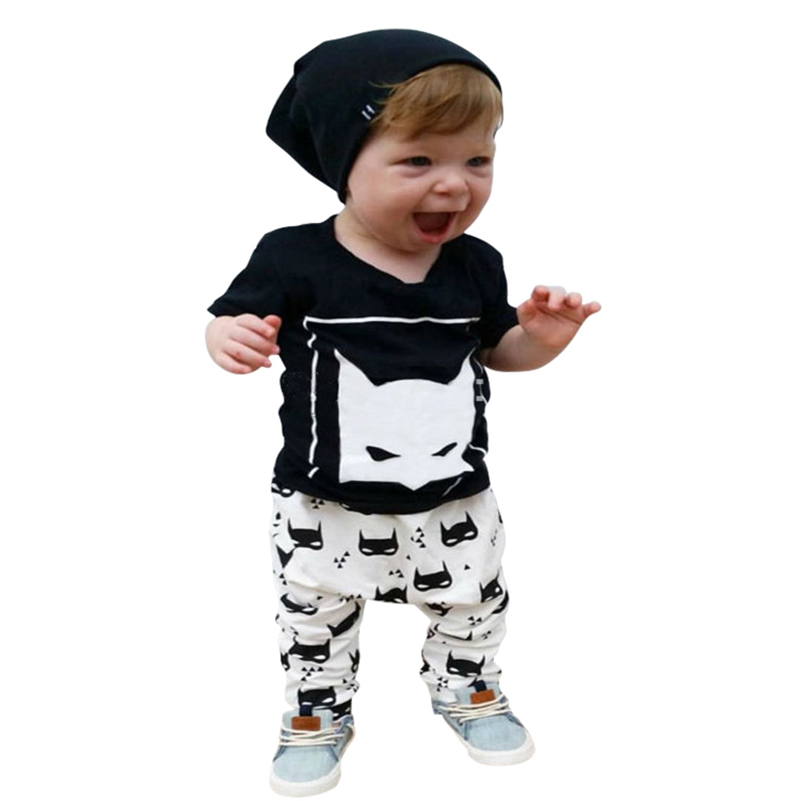 Fashion Lovely Baby Set Character Cotton Baby Boy Clothes Kids Clothing Set (Pants+T-shirt) Boy Summer Clothes Sets WY-01(China (Mainland))