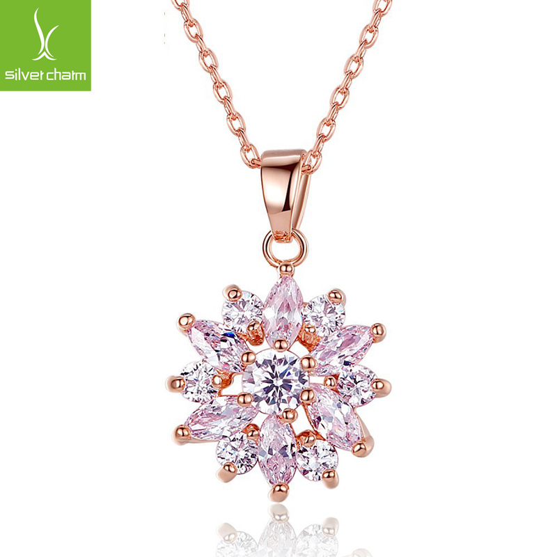 Hot Sale 18k Gold Plated Flower Pendant Necklaces for Women With High quality Zircon Crystal Fashion Jewelry XCLN024<br><br>Aliexpress