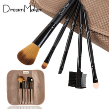 DreamMaker 5pcs Cosmetic professional makeup Brushes Set kit Make up Brushes Kits for Women foundation brush