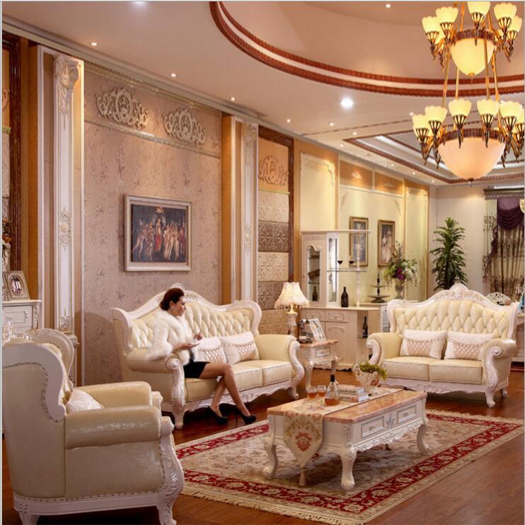 living room modern leather sofa European sectional sofa 1052(China (Mainland))