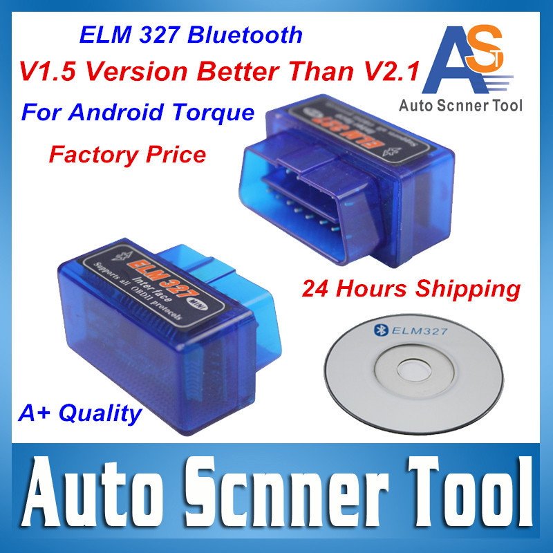 Top Sale 2015 Newest Super Mini Elm 327 Bluetooth On Android Phone/Tablet Elm327 V1.5 PICI8F25K80 Chip OBD 2 II Multi-Languages(China (Mainland))