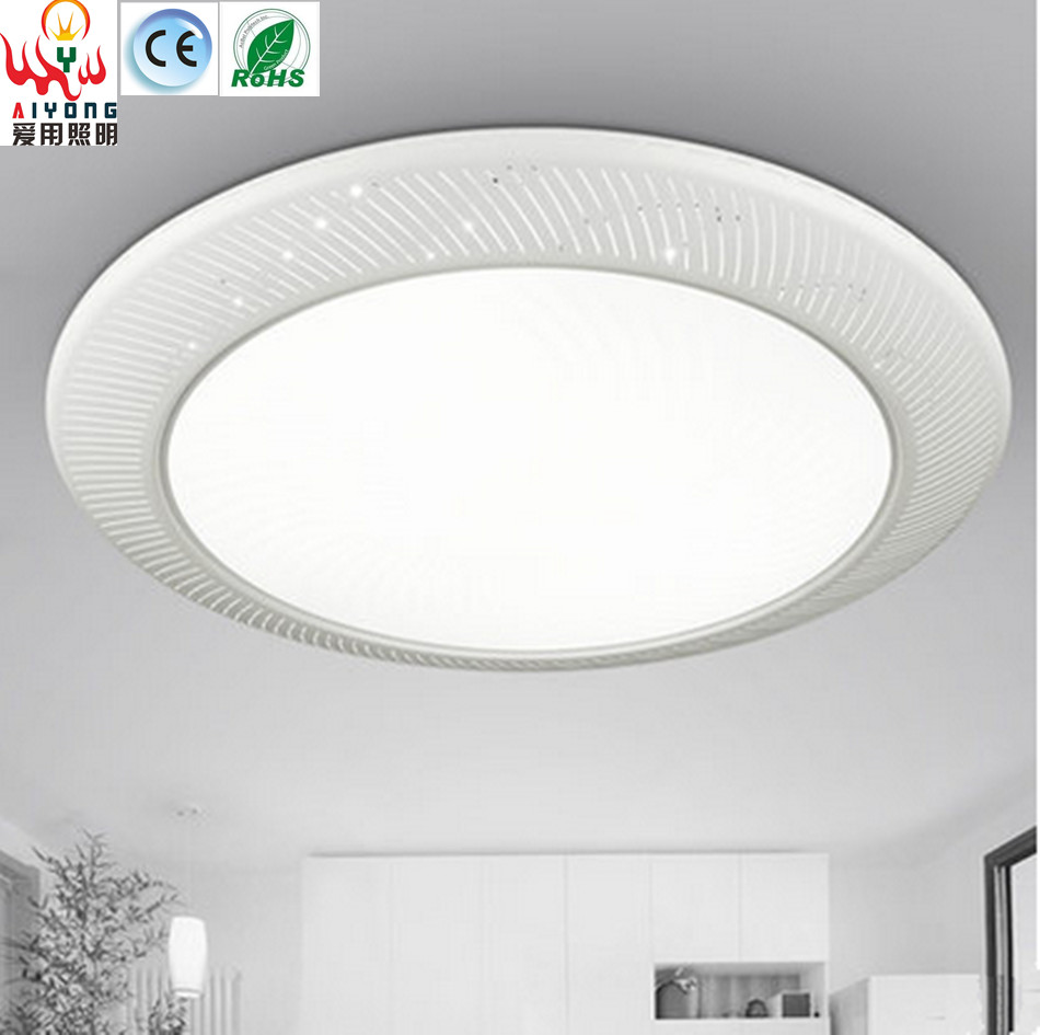 Iron LED acrylic ceiling lamps circular light emitting diode atmospheric fashion living room lights simple bedroom lamp(China (Mainland))