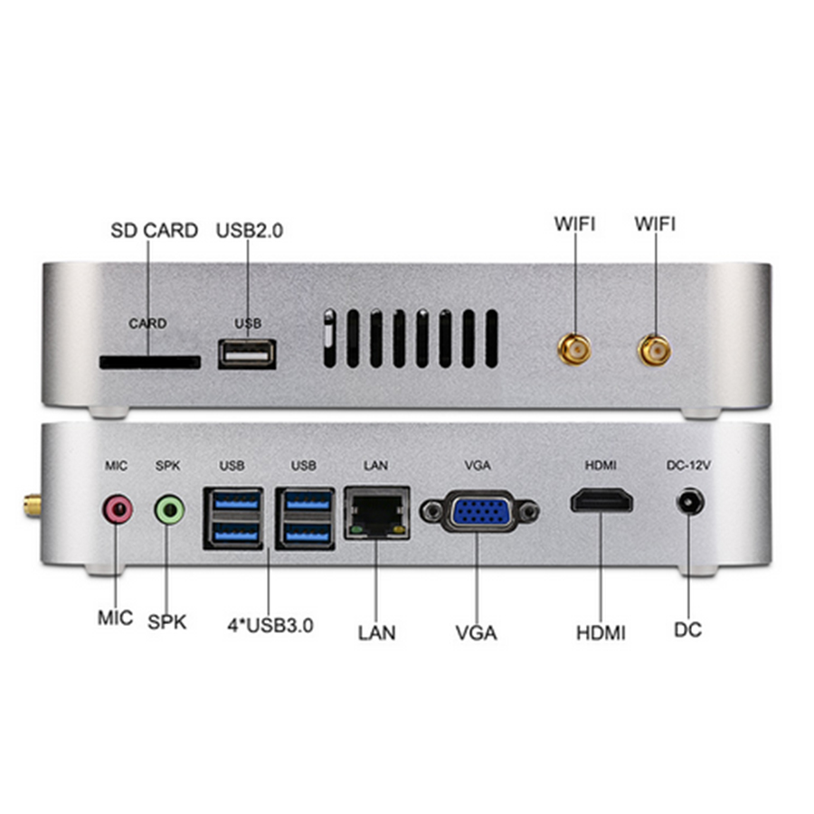 Mini PC Intel i3 7100U Kaby Lac Windows HDMI + VGA Mini PC i3 i5 minipc 4 K HTPC Intel HD Graphics 620 Sans Ventil Free Shipping(China (Mainland))