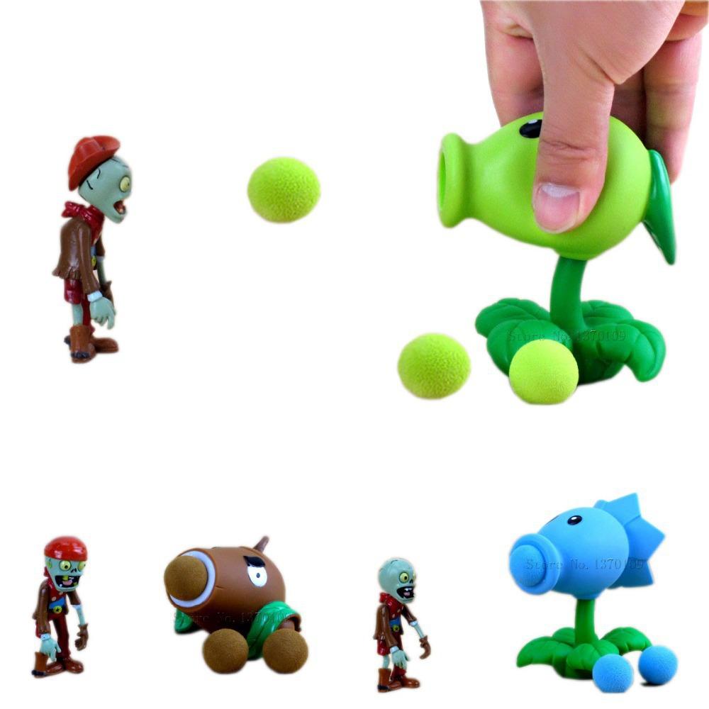 Toys For 18 : New popular game pvz plants vs zombies peashooter pvc