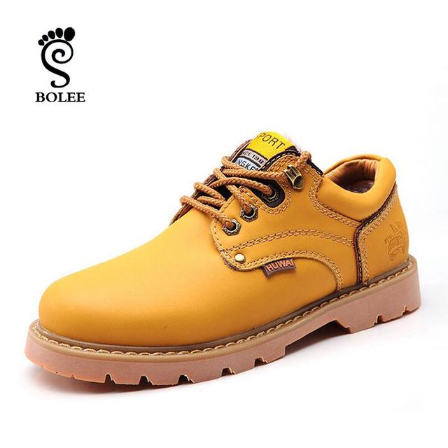 Сапоги Высокое качество оригинальный мужчины свободного покроя рабочая обувь из натуральной ...