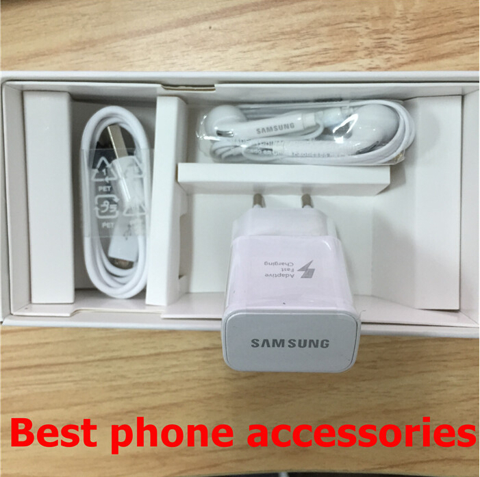 50pcs/lot US/EU Version Top quality Packing Box For SAMSUNG Galaxy S6 G920F/S6 edge With Full Accessories,free shipping(China (Mainland))