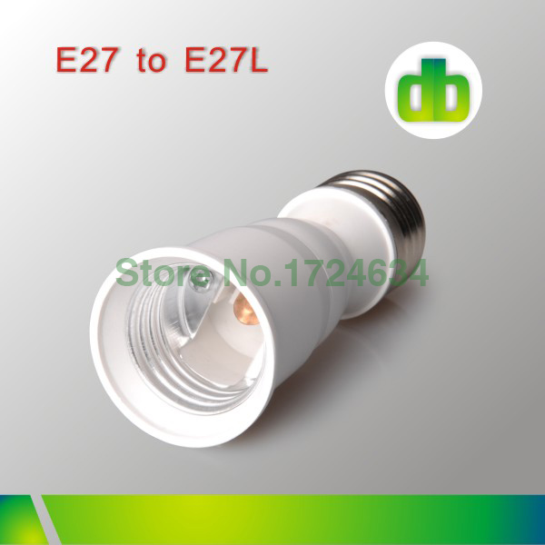 12pcs/Box White PC E27 to E27 Extend or E27-E27 Extend Lamp converter adapter For Led Lamp made in china(China (Mainland))