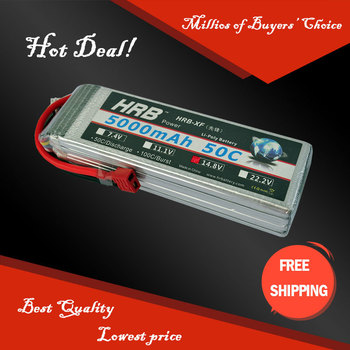 Free Shipping HRB Wholesale Price 14.8V 5000mah 50C Max 60C Toys & Hobbies For Helicopters RC Models Li-polymer Battery