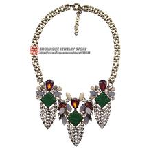 New 2016 J design fashion women jewelry wholesale necklace & pendant chunky luxury bib choker statement necklace for women(China (Mainland))