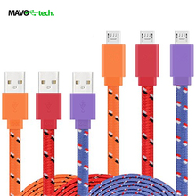 1/2/3m 3/6/10ft Fabric Nylon Cord USB Charger Cable Cell Phone Cabel for Samsung iphone 5/6 smartphone cellphone