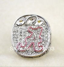 2012 Year Alabama Crimson Tide NCAA Football Championship ring SIZE 11 - Blue water ornaments factory store