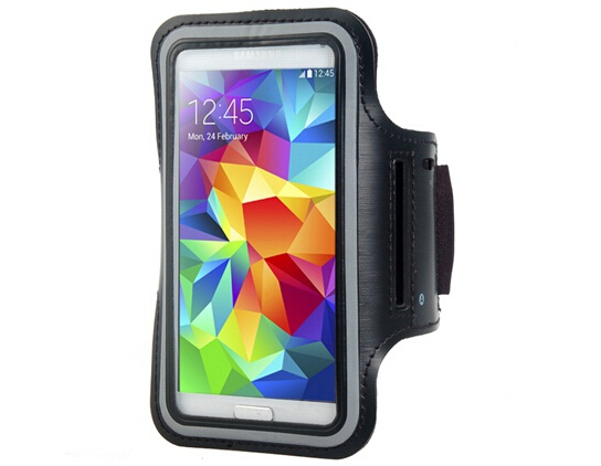 New Outdoor Armband for Samsung Galaxy S5 i9600 (Black)