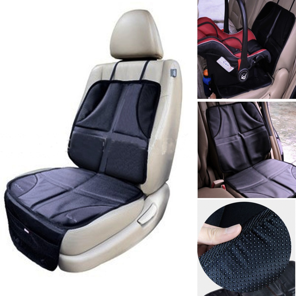 New Car Auto Baby Infant Child Seat Saver Easy Clean Protector Safety Anti Slip Cushion Cover(China (Mainland))